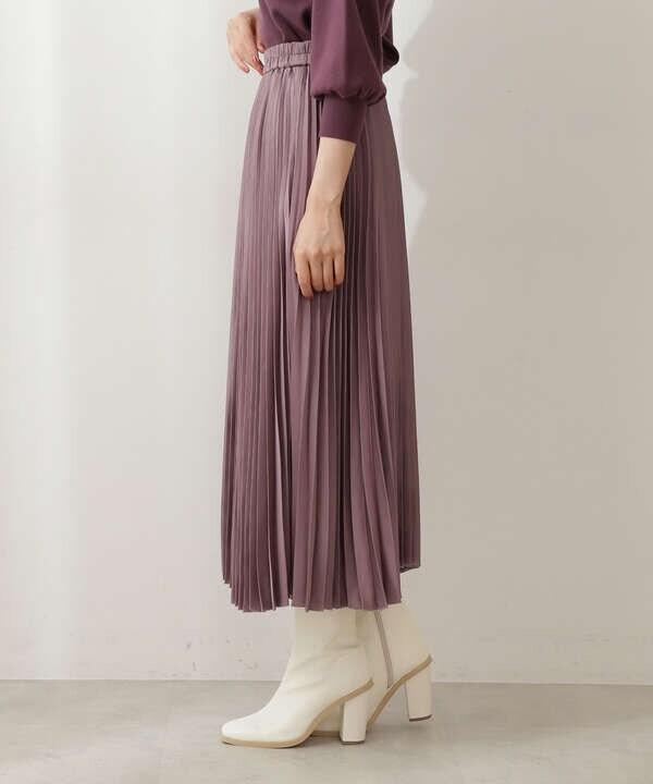 【美人百花10月号 掲載商品】サテンプリーツスカート