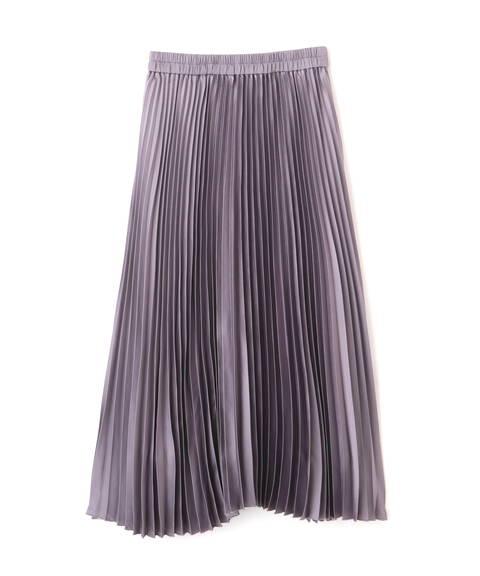 【先行予約9月下旬-10月上旬入荷予定】サテンプリーツスカート