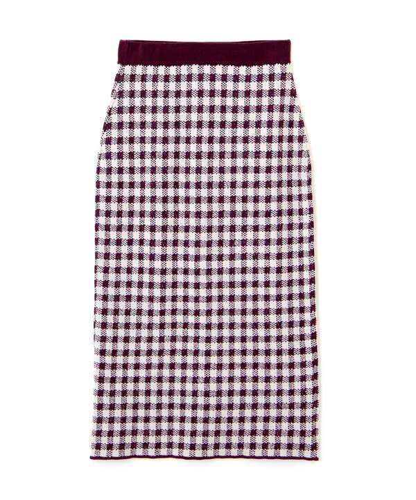 ギンガムタイトスカート