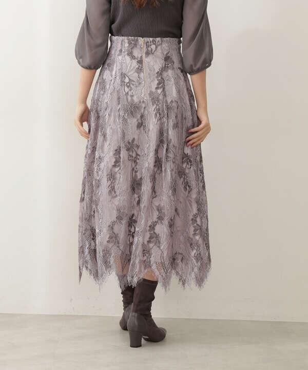 《EDIT COLOGNE》レースフレアスカート