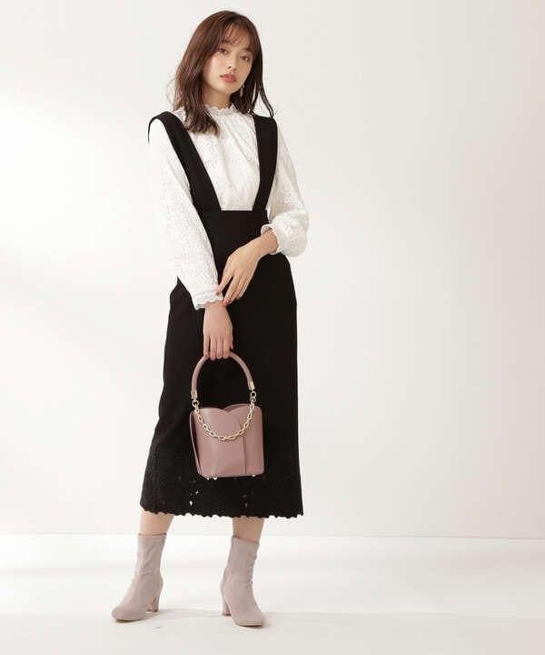 【美人百花10月号 掲載商品】エンブロイダリータイトジャンスカ