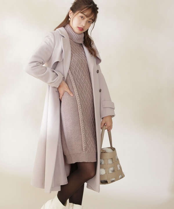 【白石聖さん着用 美人百花11月号 掲載商品】ウールトレンチコート