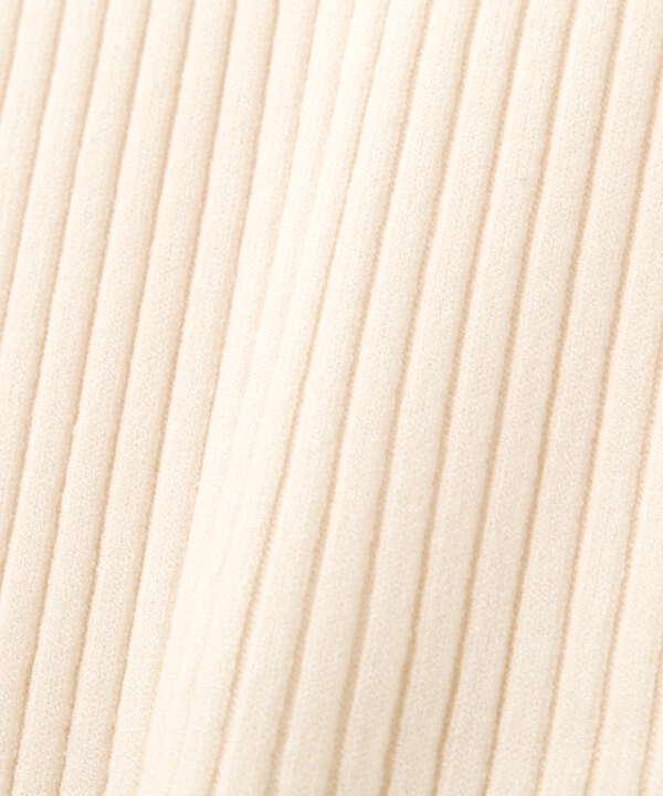 【美人百花10月号 掲載商品】プチハイネックボリュームスリーブニット WEB限定カラー:ラベンダーブルー