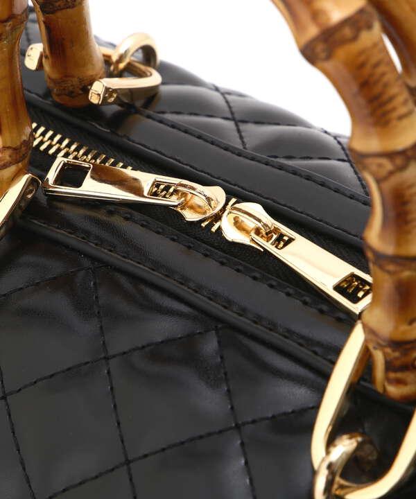 【白石聖さん着用 美人百花11月号 掲載商品】キルティングボストンバッグ