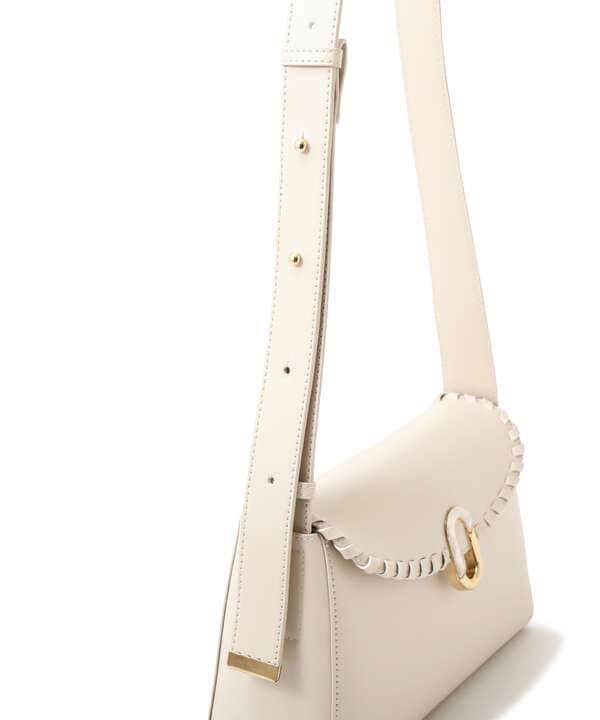 【堀田茜さん着用 美人百花11月号 掲載商品】かがりフラップショルダーバッグ