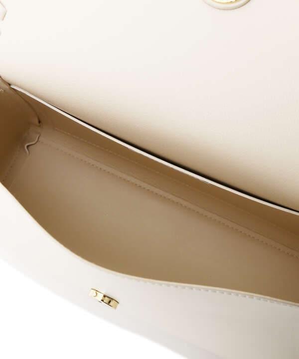 【美人百花10月号 掲載商品】かがりフラップショルダーバッグ