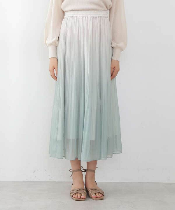 グラデーションシアープリーツスカート
