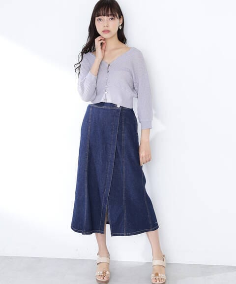 【道重さゆみさん着用 美人百花4月号掲載商品】スプリングデニムスカート