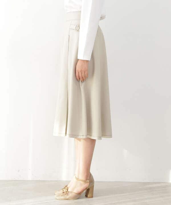 バイカラーステッチカルゼスカート