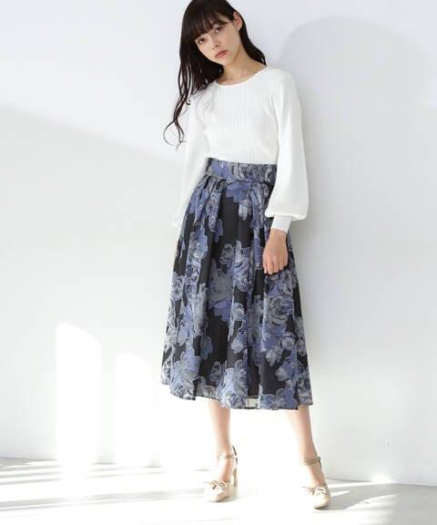 【道重さゆみさん着用 美人百花4月号掲載商品】シアージャガード2スカート