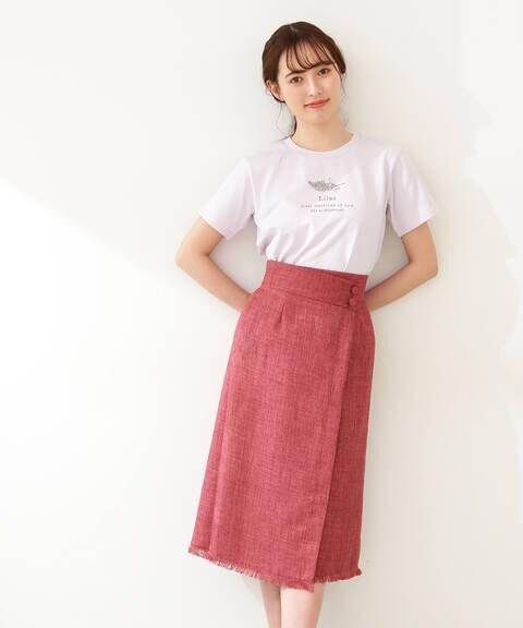 【先行予約5月中旬-5月下旬入荷予定】フリンジツイードスカート