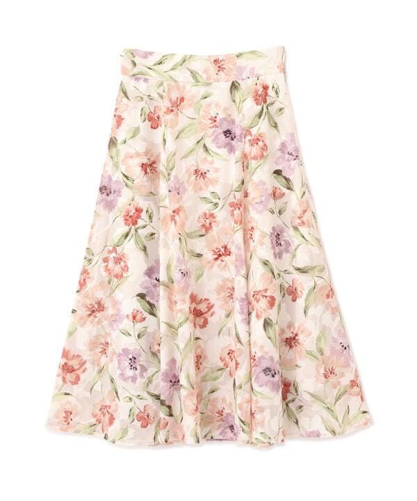 ジャガードボタニカルプリントスカート