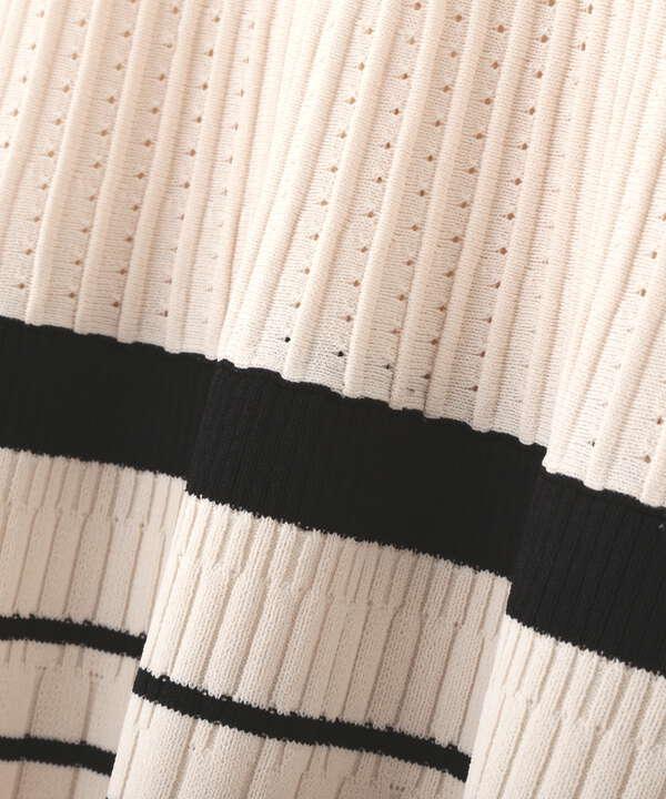 【道重さゆみさん着用 美人百花4月号掲載商品】ジャガードニットワンピース