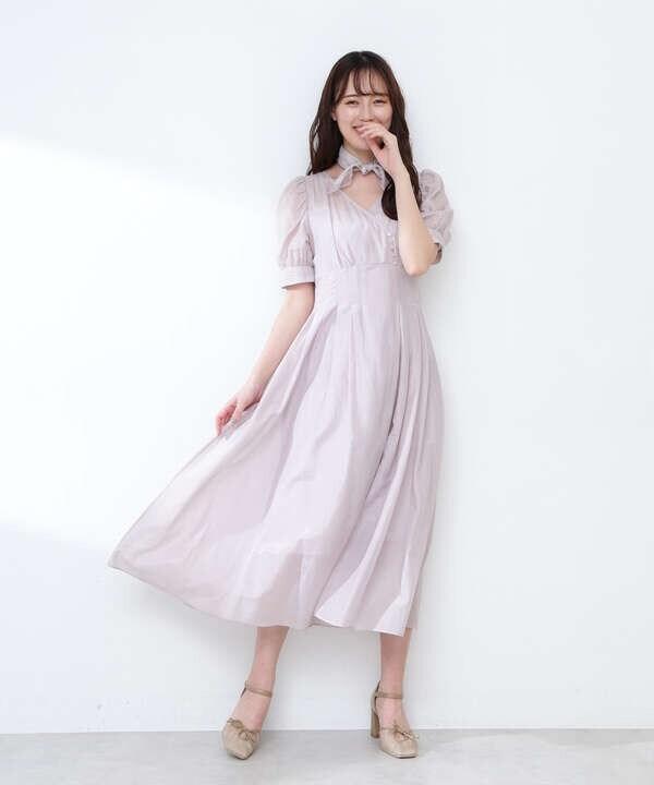 【道重さゆみさん着用 美人百花4月号掲載商品】コットンシルクシリーズワンピース