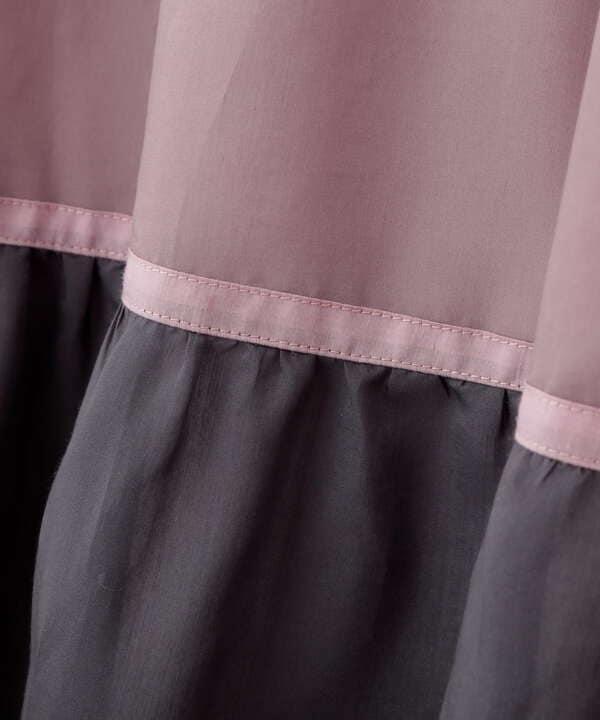 【宮田聡子さん着用 美人百花6月号掲載商品】切替グラデーションワンピース