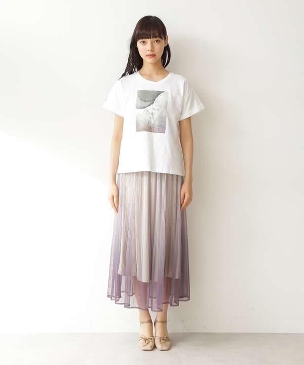 Tシャツ×グラデーションスカートセット