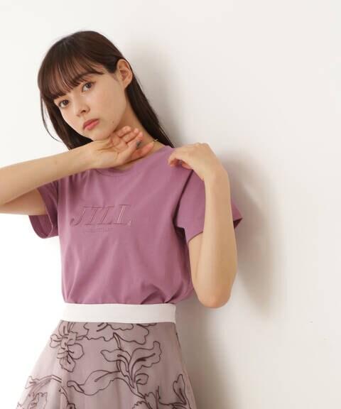刺繍ロゴTシャツ