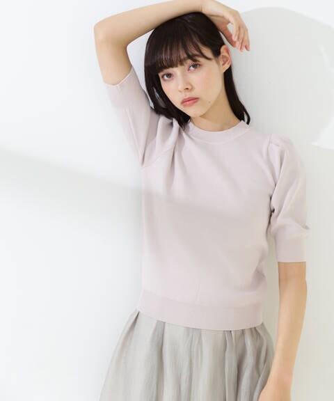 【道重さゆみさん着用 美人百花4月号掲載商品】パワショルタックニット