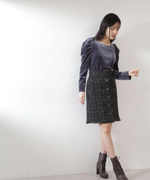 【道重さゆみさん着用 美人百花 10月号 掲載商品】ツィーディーウィンドペンスカート