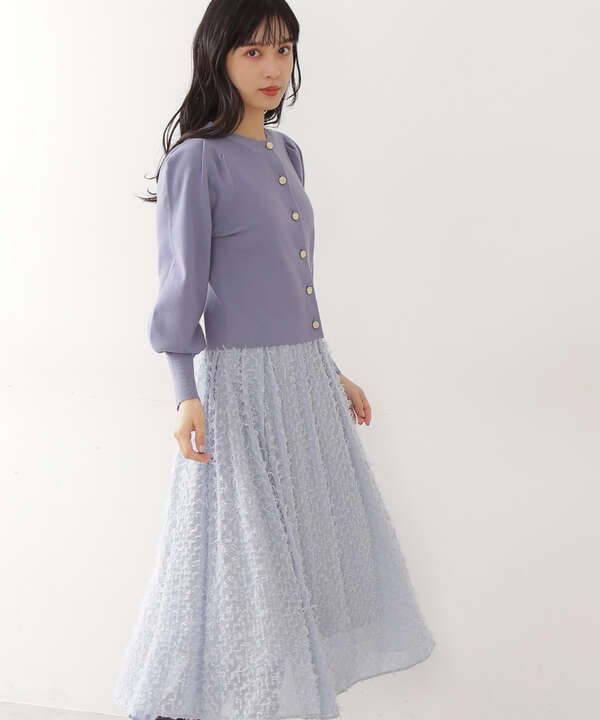 【先行予約11月中旬-11月下旬入荷予定】フェザーカットジャガードスカート