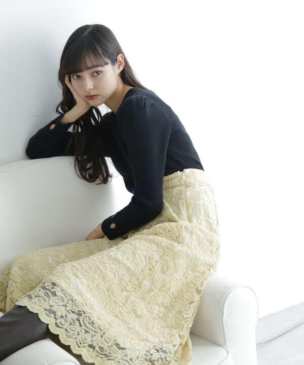 【先行予約11月中旬-11月下旬入荷予定】モールレーススカート