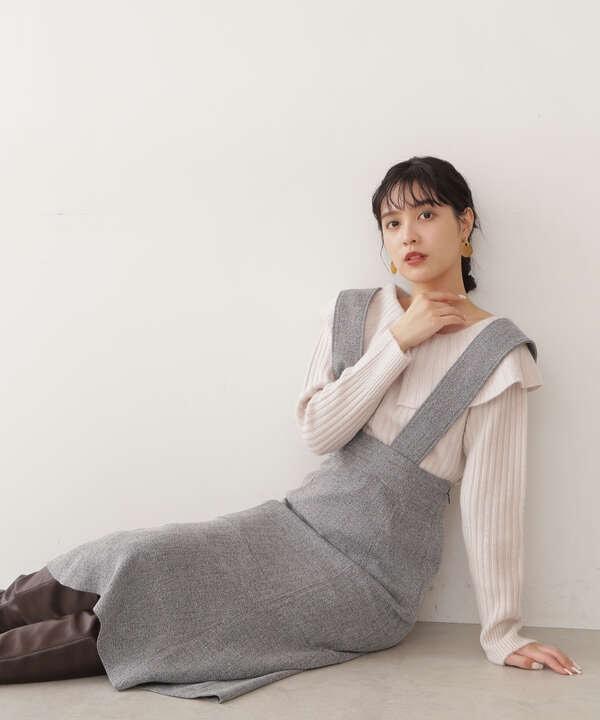【道重さゆみさん着用 美人百花 10月号 掲載商品】カラートップジャンスカ