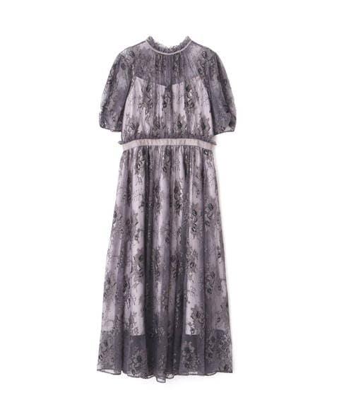 【先行予約10月上旬-10月中旬入荷予定】バイカラーレースドレス