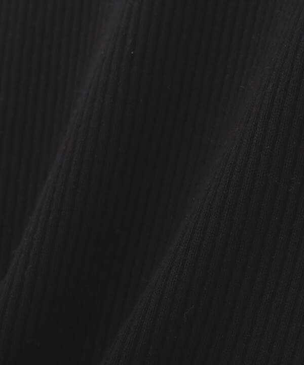 スカーフ付ラッフルリブニット