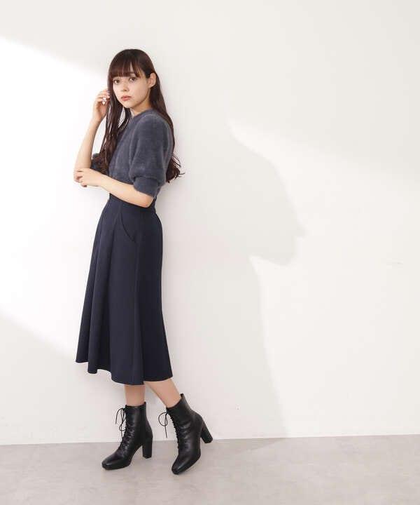 【道重さゆみさん着用 美人百花 10月号 掲載商品】レースアップミディ