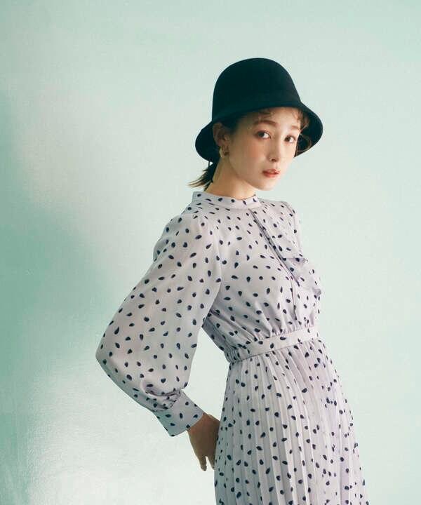 【泉里香さん着用 美人百花11月号 掲載商品】ウールベルハット