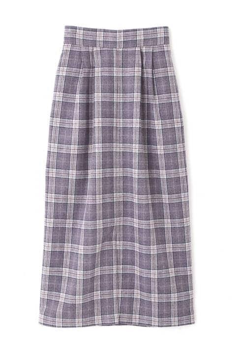 チェック柄ナロースカート