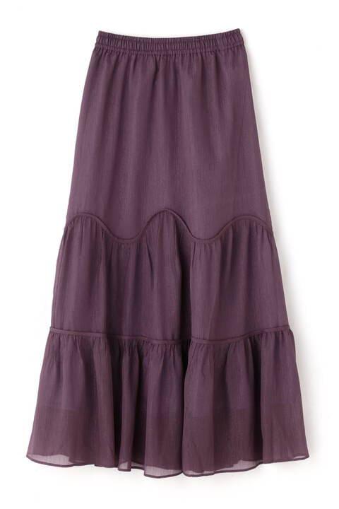 ボイルウェーブティアードスカート