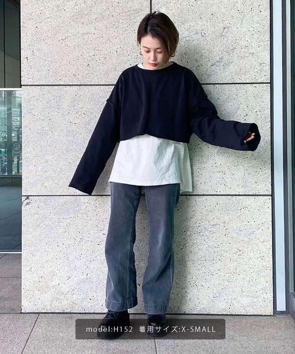 《Sシリーズ対応商品》ベーシックワイドデニムパンツ