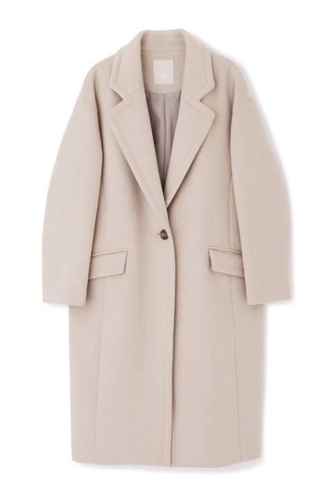《Sシリーズ対応商品》ウール混オーバーチェスターコート