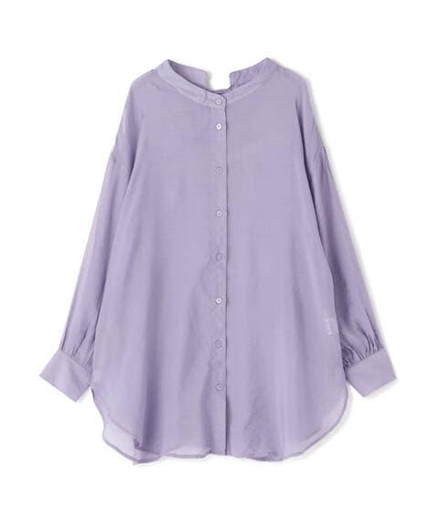 【追加生産予約5月上旬-中旬入荷予定】シアーレースアップチュニックシャツ
