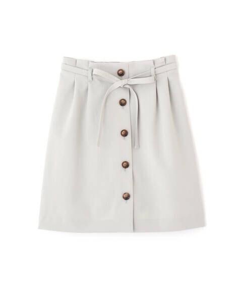 《Sシリーズ対応商品》麻調合繊フロントボタンミニスカート