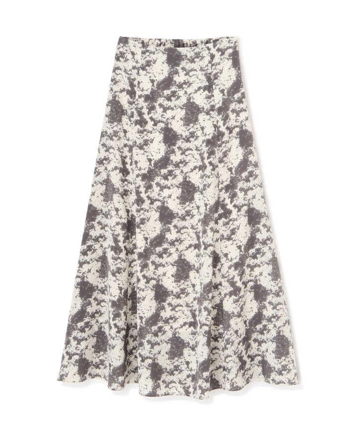ブラッシュプリントフレアマキシスカート