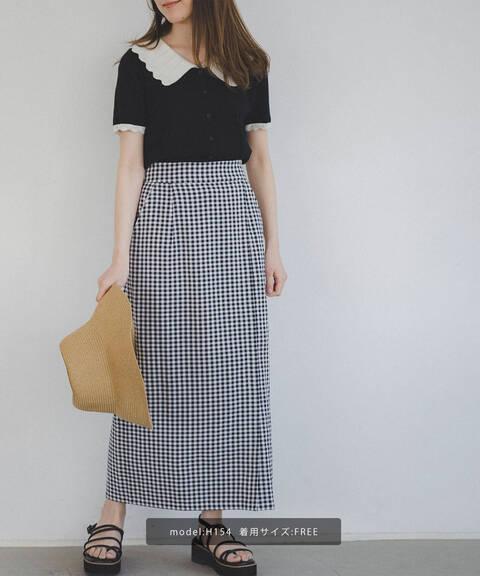 ギンガムチェックタイトスカート