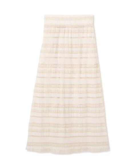シアーボーダーロングスカート