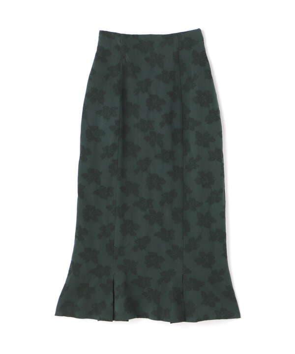 《Sシリーズ対応商品》花柄ジャガード裾タックスカート