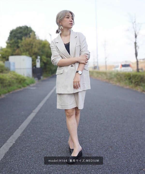《Sシリーズ対応商品》麻混ハーフパンツ