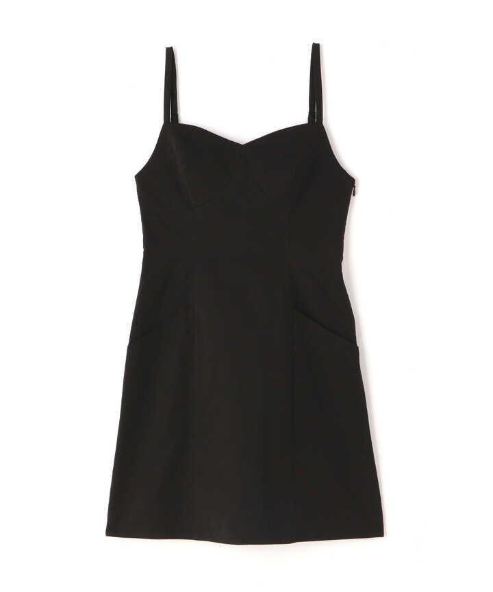 バスト切替ミニ丈Aラインキャミワンピース