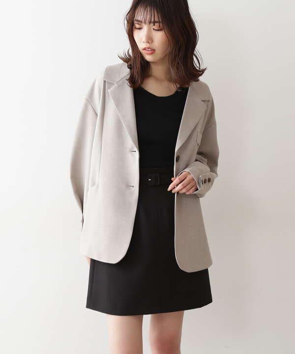 デザインスリーブミドル丈ジャケット