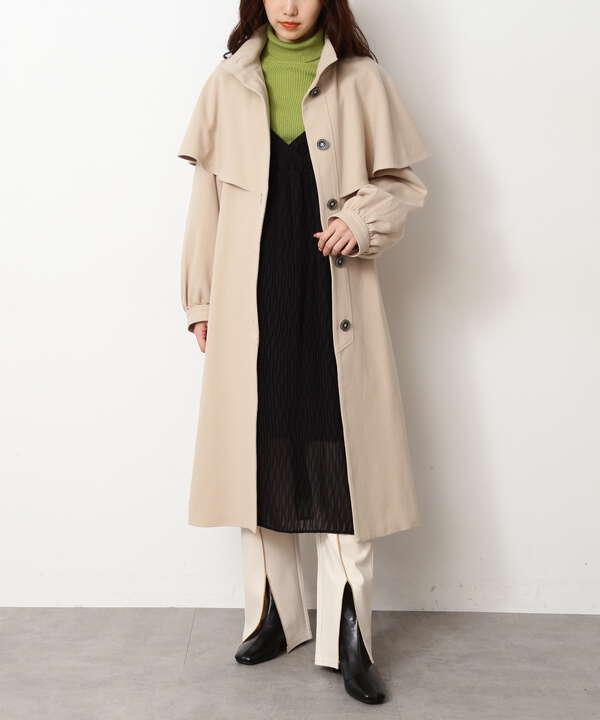 アンブレラケープスタンドカラーコート