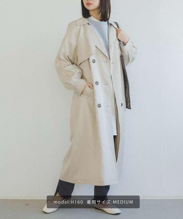 《Sシリーズ対応商品》抜け襟トレンチコート