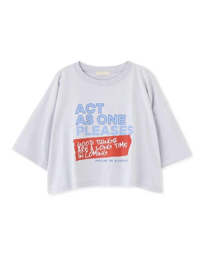 ビッグロゴプリント短丈Tシャツ