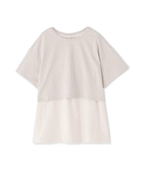 バックリボンレイヤードTシャツ