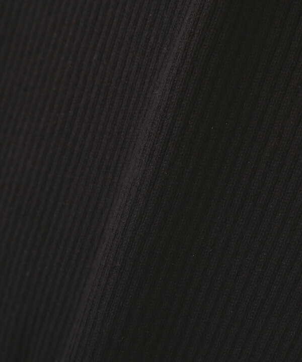 スクエアネックボリュームスリーブ半袖ニット