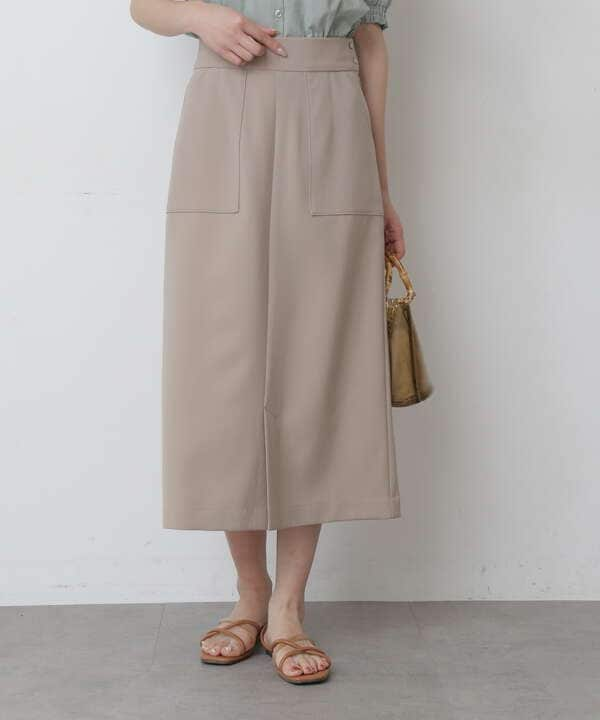 《Sシリーズ対応商品》ストレッチダブルジョーゼットスリットタイトスカート