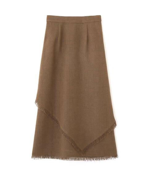 アシメレイヤードフリンジスカート